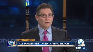 Power restored in Vero Beach after outage - Video