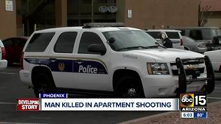 Man killed in triple shooting at Phoenix apartment - Video