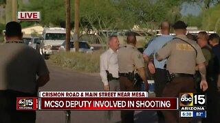 Investigation underway following deputy-involved shooting in Mesa