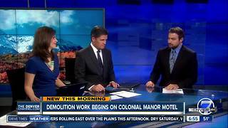 Demolition work begins tomorrow on Colonial Manor Motel - Video