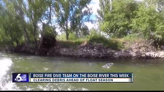 Boise Fire Dive Team mitigates hazards on Boise River - Video