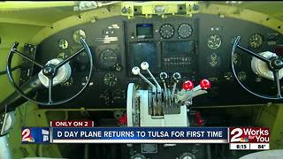 D Day plane returns to Tulsa for the first time - Video