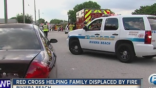 Red Cross helps family displaced by a fire - Video
