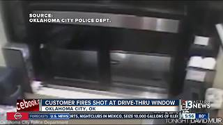 Customer shoots through drive-thru window - Video