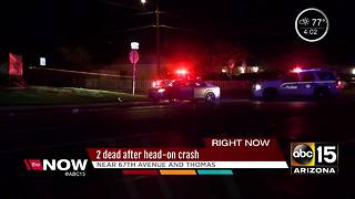 UPDATE: 2 people dead after west Phoenix crash - Video