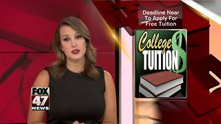August 31 Deadline to Apply for Free Tuition
