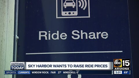 Sky Harbor wants to raise rideshare prices