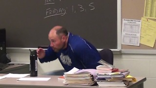 Students Pull Air Horn Prank on Teacher - Video