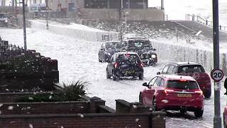 Sea foam causes chaos on Fylde Coast - Video
