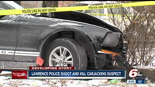 Lawrence police shoot, kill carjacking suspect following pursuit - Video