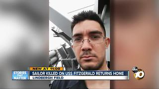 Sailor killed on USS Fitzgerald returns home