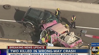 DPS identifies driver and passenger killed in wrong-way crash Tuesdsay - Video