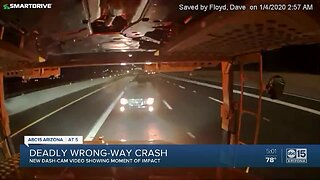 Dash cam footage from a deadly wrong-way crash