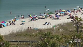 How will Pinellas County enforce countywide beach closures?