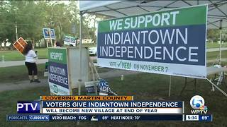Indiantown votes to become incorporated - Video