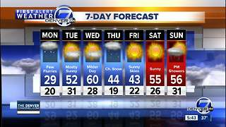 More snow for the mountains Monday, some for Denver too! - Video