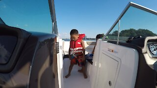 Blasian Baby Brother Boat Dancing, Part 1