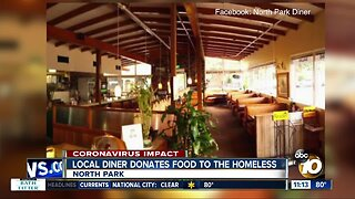 Local diner donates food to the homeless