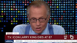 TV icon Larry King dies at 87