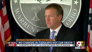 Prosecutor won't charge parents in toddler's hot car death outside Procter & Gamble - Video