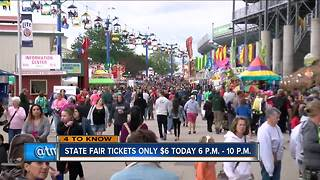 Wisconsin State Fair selling discounted tickets Wednesday night - Video