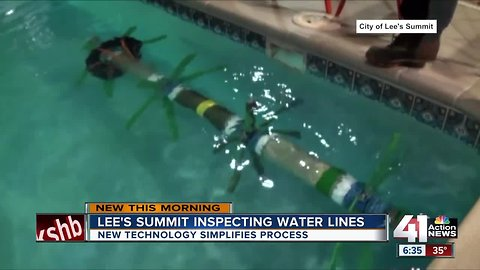 Lee's Summit uses device to inspect condition of water line without shutting off water flow