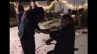 Husband Surprises Wife With Second Proposal for 20th Anniversary - Video
