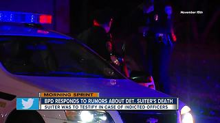Baltimore Police: Detective Suiter was scheduled to testify against indicted officers - Video