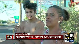 Police searching for gunman who fired at Phoenix police officers near I-17 - Video