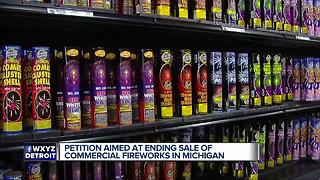 Petition aimed at ending sale of commercial fireworks in Michigan - Video
