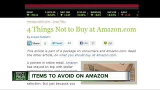 Items to avoid purchasing on Amazon - Video