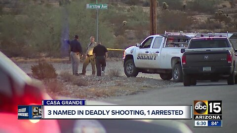 Man arrested in Mexico in connection with deadly Casa Grande shooting, 2 others still on the loose