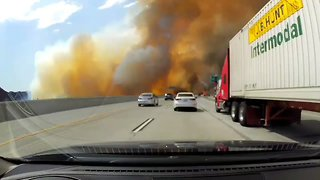 La Tuna Brush Fire Flanks Los Angeles' 210 Freeway - Video