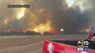377 fire spreads to nearly 5,000 acres near Heber - Video