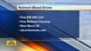 Give blood and receive a $10 gift card from select Tampa Bay Area Walmarts - Video
