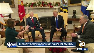 President debates Democrats on border security - Video