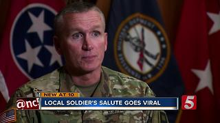 Local Soldier's Salute Goes Viral - Video