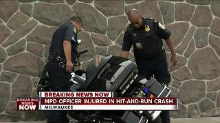 Milwaukee police officer hurt in hit-and-run crash Thursday morning - Video