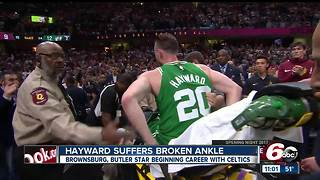 Former Butler star Gordon Hayward suffers gruesome-looking leg injury - Video