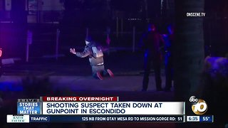 Suspect in Escondido shooting arrested at gunpoint