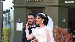 Wedding photo session ends abruptly after explosion rips through Beirut