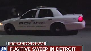Fugitive sweep in Detroit - Video