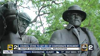 City council votes to do away with Confederate monuments - Video