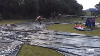 Australians Build Insane Backyard Slip 'N Slide - Video