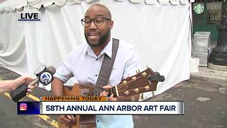 Ann Arbor Art Fair/ Al Bettis Performs - Video