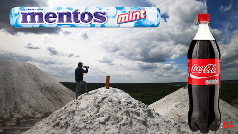 Experiment: Rocket with Cola, Mentos on the Mountains