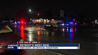 Man in critical condition after being shot outside Detroit market - Video