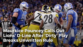 Maurkice Pouncey Calls Out Lions' D-line After 'Dirty' Play Breaks Unwritten Rule - Video