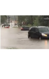 Cars Swamped by Flooding on Pennsylvania's Highway 30