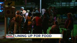 People wait hours for food assistance in wake of Hurricane Irma - Video